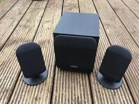 Hardly used Technika speakers x3 black