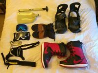 Assorted Snowboarding Kit, Burton Cartel Bindings, Nike SB Boots, Transceiver, plus much more!