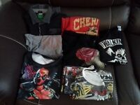T-shirts (part 1): Assorted men's t-shirts (8) in good condition.M/ L , L, XL & XXL.
