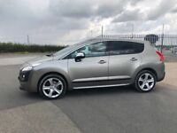 PEUGEOT 3008 EXCLUSIVE 1.6, FULL HEATED LEATHER, CRUISE, PAN ROOF, BLUETOOTH, HEAD UP DISPLAY