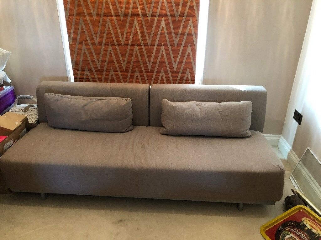 Like New T2 Muji Charcoal Grey Sofabed Sofa Bed With Two