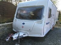 Bailey Ranger 460 caravan. 4 berth. Fixed bed. Awning. Motor mover, Fully equipped, Shower, Toilet