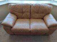 Tan 3 seater & 2 seater leather sofas Excellent condition