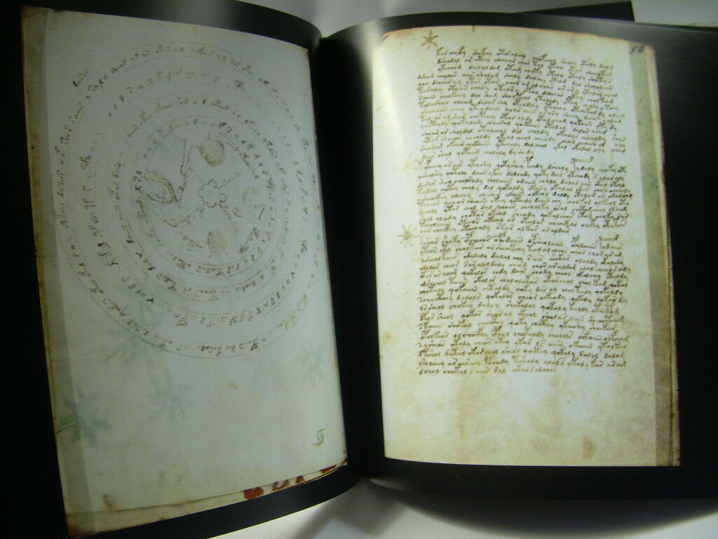 Voynich Manuscript ILLUSTRATED CODEX Cryptography Glyphs alchemy LIMITED