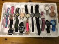 TRAY OF 15 BRAND NEW WATCHS. RRP £400+ CARBOOT WHOLESALE JOBLOT