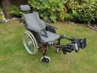 Invacare Action 3 NG Comfort fully reclinable self propelled AluminiumWheelchair