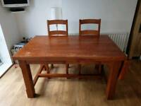 Solid dinning table and 6 matching chairs