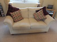 CREAM FABRIC SOFAS FOR SALE ( THREE IN TOTAL)