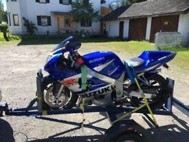 Single Robust Motorcycle Trailer