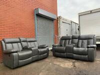Grey recliners 3&2 delivery 🚚 read description sofa suite couch