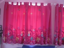 Pink blackout curtains from Next