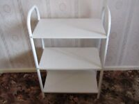 White Free Standing Shelf Unit