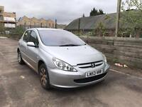 Peugeot 307 ! 1.4 Petrol 5 Door Hatchback 2004 Really Low Mileage