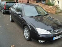 FORD DIESEL MONDEO GHIA BLACK 03 130PS 6SPD MANUEL MOTed not a london car