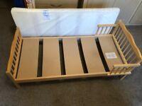 INFANT PINE BED & MATTRESS