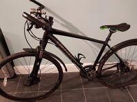 Mens Specialized Crosstrail Sport Disc 2014 Hybrid Bike size large.