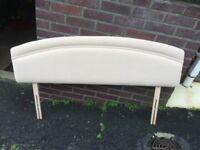 Double bed headboard - light beige material