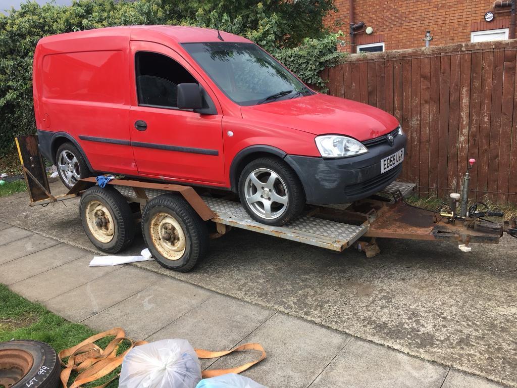 Car transporter trailer with brakes plant mini digger etc