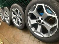 """New 18"""" Volvo alloy wheels +winter tyres XC60 XC70 Ford Galaxy Evoque 5x108 CAN POST"""