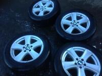 * BMW X5 alloys * X3 alloy wheels * RUN FLAT * 255 55 18 tyres