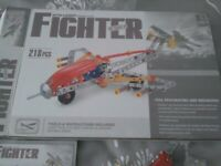 Model Fighter Jet Construction Toy Boxed Intelligent Assembly Toys 218 pieces