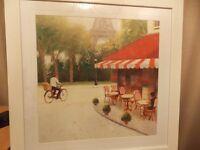 Glass Framed Painting of Paris Scene
