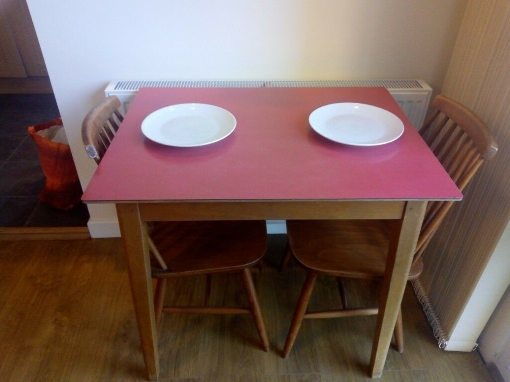 Retro dining table for two redland