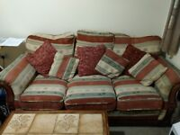 3+1 seater sofa PLUS cushions PLUS coffee table PLUS two nested tables