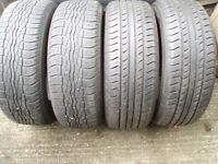 4 x Tyres 235/60/16 R16 Tread 6-7mm Delivery available