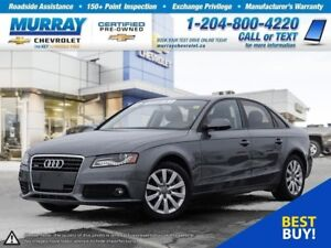 2012 Audi A4 2.0T *Bluetooth, Leather Seats, Accident Free*