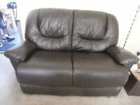 2 seater sofa and armchair leather