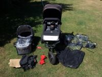 Mountain Buggy Swift Pushchair with Carrycot and Accessories.