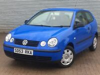2003 VOLKSWAGEN POLO E, 1.2 ENGINE, 3 DOORS, LONG MOT & SERVICE HISTORY.