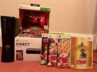 X-box 360S 4gb with Kinect, limited edition Star Wars controller and 4 games