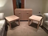 Sideboard & Side Tables (2No.)