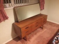 Small old wooden dresser with mirror - for bedroom