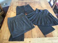 Girls age 10 grey school clothes