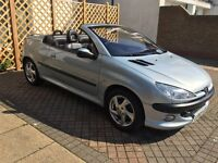 2003 peugeot 206 cc 1.6 with mot till may 2017