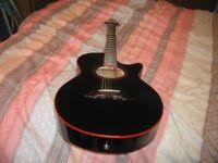 Semi accoustic 6 string guitar