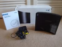 BT Home Hub 2.0 Black (Type B) wireless router in box with instructions