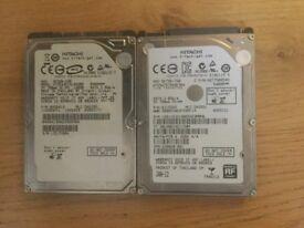 2 Harddrives Hitachi 750Gb & Hitachi 160Gb (2.5)