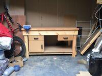 Hardwood Timber Workbench