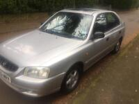 Hyundai Accent 1.5 new mot. Only one owner from new