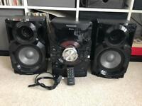 Panasonic SA-AKX18 speaker system.