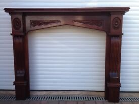 Mahogany fire surround very good condition large