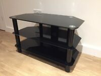 TIBO BLACK GLASS TV STAND