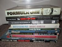 Collection of 10 Sport Books Formula One Grand Prix Murray Walker Damon Hill Lot