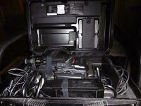 PANASONIC VHS MOVIE CAMERA WITH HARD CARRY CASE NV-MC30B