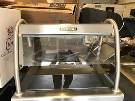 Heated display unit dry Bain Marie resturant pubs cafe commercial burger van glass fronted