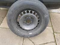 Used 215 55 16 continental tyre 7mm tread on Mercedes steel wheel looks very good